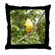 Right American Goldfinch Throw Pillow