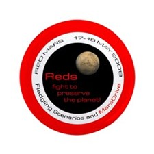 """""""Red Mars"""" paintball items 3.5"""" Button"""