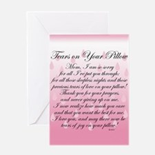 TEARS ON YOUR PILLOW blank inside Greeting Card
