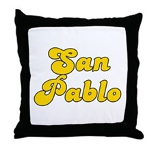 Retro San Pablo (Gold) Throw Pillow