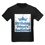 1st Birthday Prince's Godfath Kids Dark T-Shirt