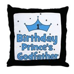 1st Birthday Prince's Godfath Throw Pillow