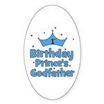 1st Birthday Prince's Godfath Oval Sticker
