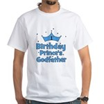 1st Birthday Prince's Godfath White T-Shirt