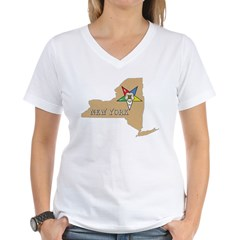 New York OES Women's V-Neck T-Shirt