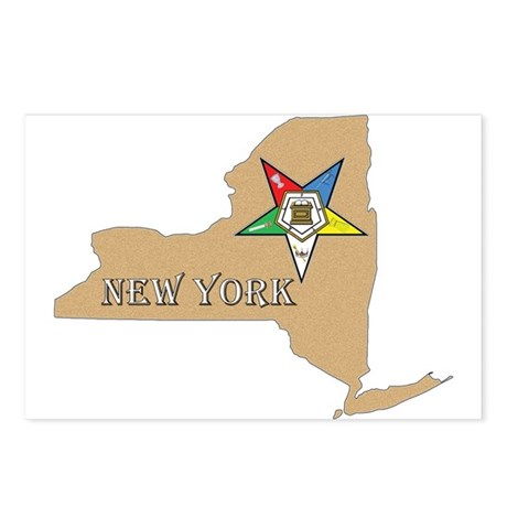 New York OES Postcards (Package of 8)