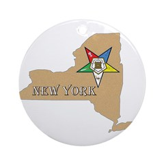 New York OES Ornament (Round)