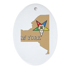 New York OES Oval Ornament