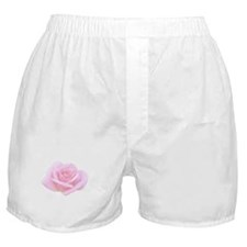 Single Pale Pink Rose Boxer Shorts
