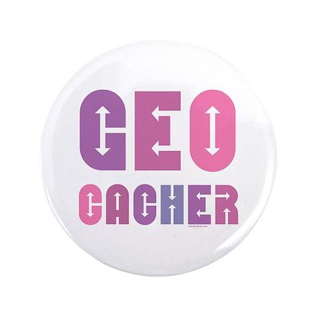 "Geocacher Arrows Pinks 3.5"" Button"