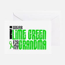 I Wear Lime Green For My Grandma 6 Greeting Card
