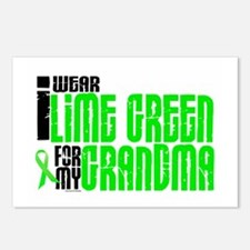 I Wear Lime Green For My Grandma 6 Postcards (Pack
