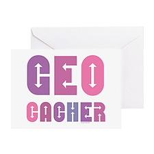 Geocacher Arrows Pinks Greeting Card