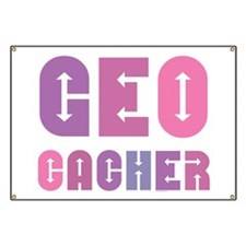 Geocacher Arrows Pinks Banner