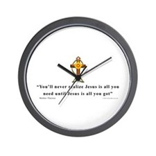 Mother Theresa Quote Wall Clock