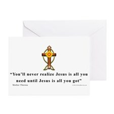 Mother Theresa Quote Greeting Cards (Pk of 10)