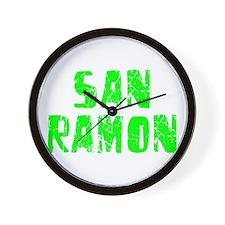 San Ramon Faded (Green) Wall Clock