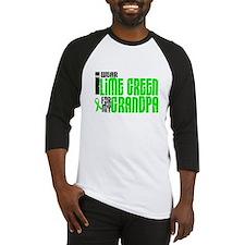 I Wear Lime Green For My Grandpa 6 Baseball Jersey