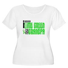 I Wear Lime Green For My Grandpa 6 T-Shirt
