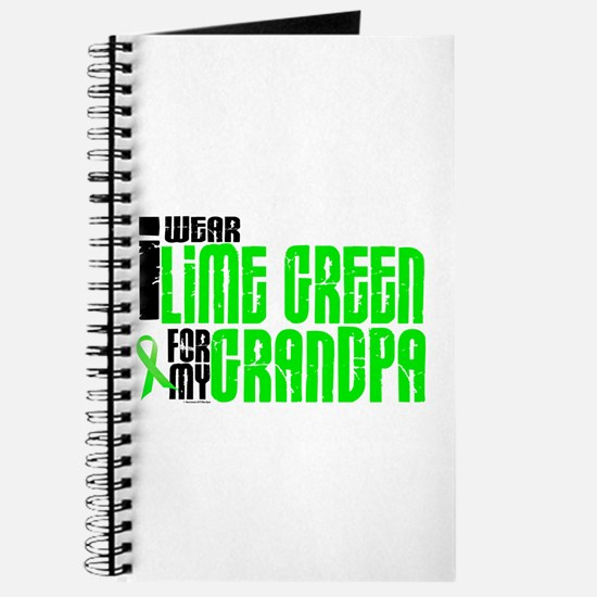I Wear Lime Green For My Grandpa 6 Journal