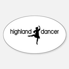 Highland Dancer GIRL Oval Decal