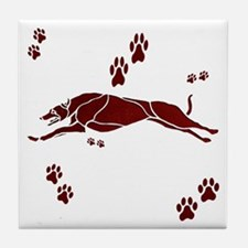 Running Grey (maroon) Tile Coaster