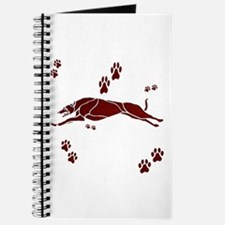 Running Grey (maroon) Journal
