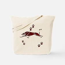 Running Grey (maroon) Tote Bag