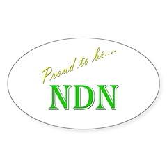 Proud to be NDN Oval Sticker (10 pk)