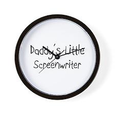 Daddy's Little Screenwriter Wall Clock