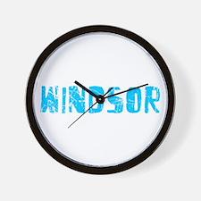 Windsor Faded (Blue) Wall Clock