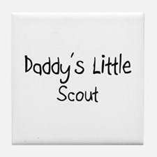 Daddy's Little Scout Tile Coaster