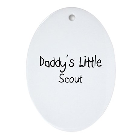 Daddy's Little Scout Oval Ornament
