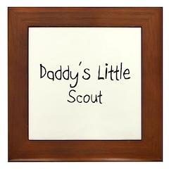 Daddy's Little Scout Framed Tile