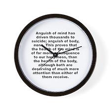 C quotation Wall Clock