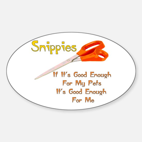 Snippies Oval Decal