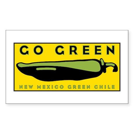 Go Green Rectangle Sticker