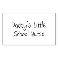 Daddy's Little School Nurse Rectangle Decal