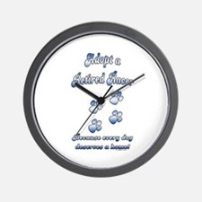 Racer Blue Wall Clock