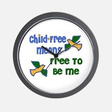 Child-free Me Wall Clock