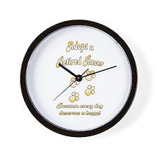 Racer Gold Wall Clock