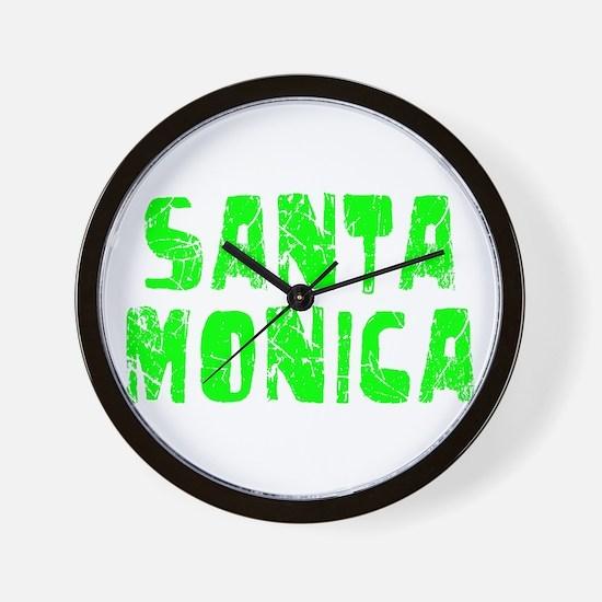 Santa Monica Faded (Green) Wall Clock