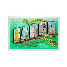 Fargo North Dakota Greetings Rectangle Magnet