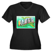 Fargo North Dakota Greetings (Front) Women's Plus