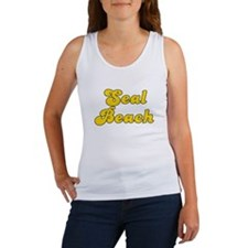 Retro Seal Beach (Gold) Women's Tank Top