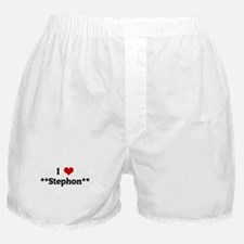 I Love **Stephon** Boxer Shorts