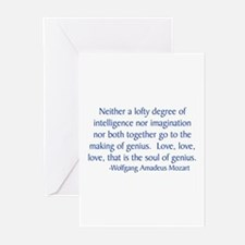 Mozart 1 Greeting Cards (Pk of 10)