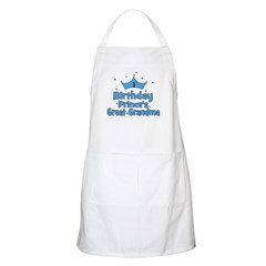 1st Birthday Prince's Great G BBQ Apron