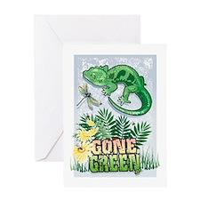 GONE GREEN Greeting Card
