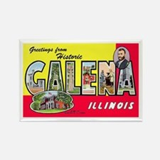 Galena Illinois Greetings Rectangle Magnet